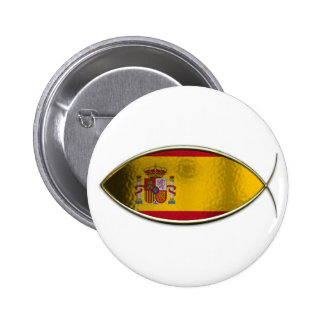 Ichthus - bandera española pins