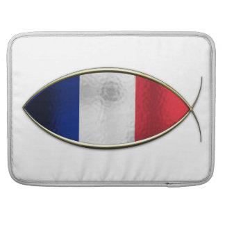 Ichthus - bandera francesa fundas para macbook pro