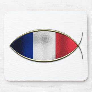 Ichthus - bandera francesa mousepad