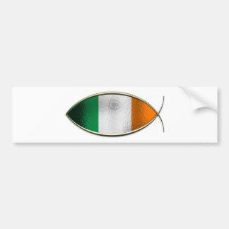 Ichthus - bandera irlandesa etiqueta de parachoque