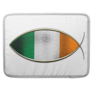 Ichthus - bandera irlandesa funda para macbook pro