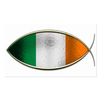Ichthus - bandera irlandesa tarjetas de visita