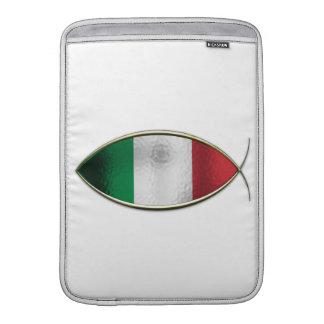 Ichthus - bandera italiana fundas macbook air