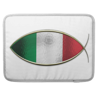 Ichthus - bandera italiana funda macbook pro