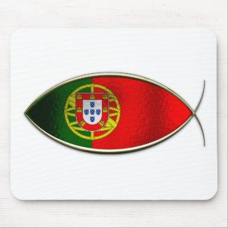 Ichthus - bandera portuguesa alfombrilla de raton