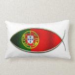 Ichthus - bandera portuguesa almohada