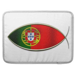 Ichthus - bandera portuguesa funda macbook pro