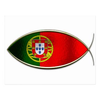 Ichthus - bandera portuguesa tarjetas postales