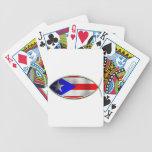 Ichthus - bandera puertorriqueña cartas de juego
