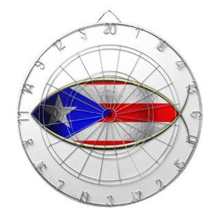 Ichthus - bandera puertorriqueña tabla dardos