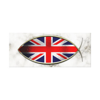 Ichthus - British Flag Canvas Print