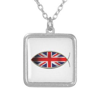 Ichthus - British Flag Custom Necklace