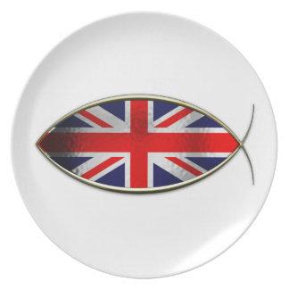 Ichthus - British Flag Plate
