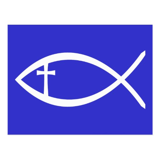 Ichthus Christian Fish Postcard