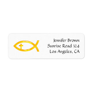 Ichthus - Christian Fish Symbol - Address Label