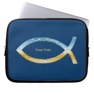 Ichthus - Christian Fish Symbol - Customizable Laptop Sleeve