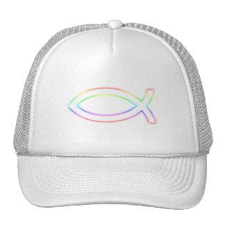 Ichthus - Christian Fish Symbol - Glowing Mesh Hats