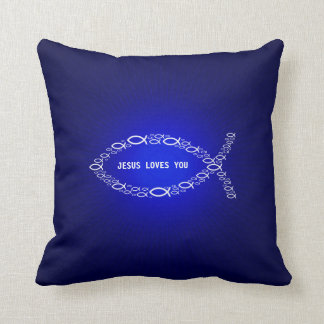 Ichthus - Christian Fish Symbol Pillow