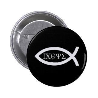 Ichthus - Christian Fish Symbol Pinback Button