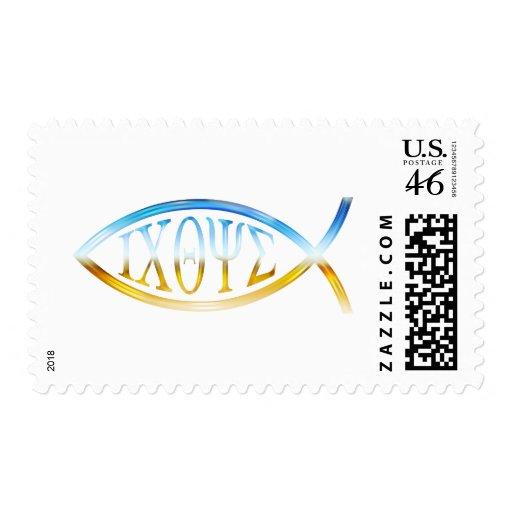 Ichthus - Christian Fish Symbol - Postage