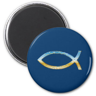 Ichthus - Christian Fish Symbol  Sky & Ground Magnet