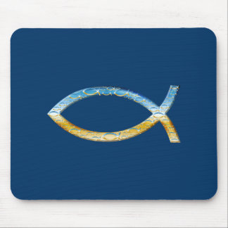 Ichthus - Christian Fish Symbol  Sky & Ground Mouse Pad