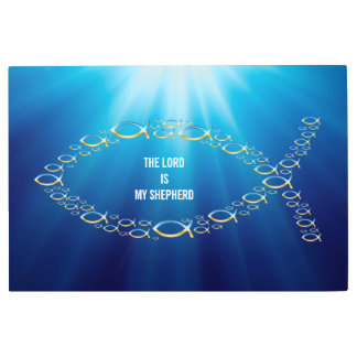 Ichthus | Christian Fish Symbol - Small Fishes Metal Print