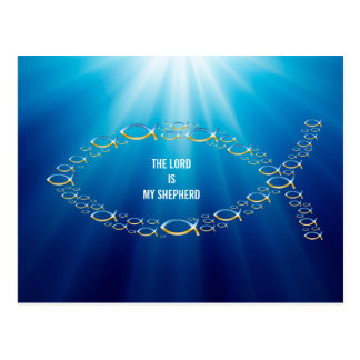 Ichthus - Christian Fish Symbol - Small Fishes Postcard