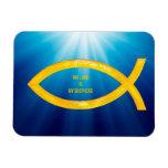 Ichthus - Christian Fish Symbol - Small Fishes Rectangular Photo Magnet