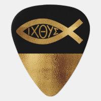 Ichthus Fish Christian Symbol Faith Music Band Guitar Pick