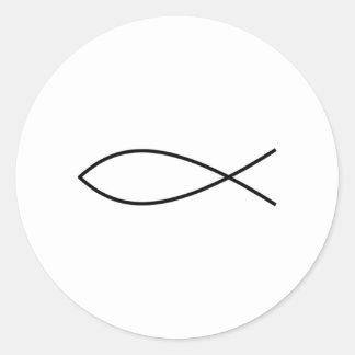 Ichthus Fish Classic Round Sticker