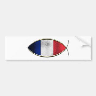 Ichthus - French Flag Car Bumper Sticker