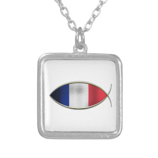 Ichthus - French Flag Necklace