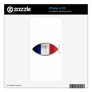 Ichthus - French Flag Skin For The iPhone 4S
