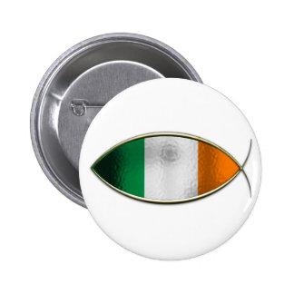 Ichthus - Irish Flag 2 Inch Round Button