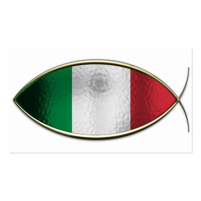 Ichthus - Italian Flag Business Card