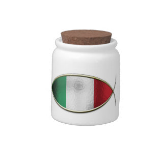 Ichthus - Italian Flag Candy Dishes