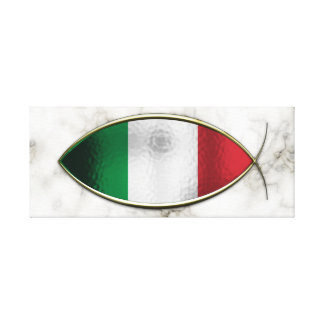 Ichthus - Italian Flag Gallery Wrapped Canvas