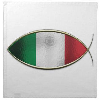 Ichthus - Italian Flag Cloth Napkins