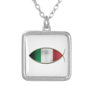 Ichthus - Italian Flag Personalized Necklace