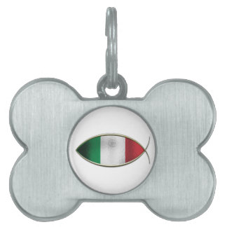Ichthus - Italian Flag Pet ID Tag