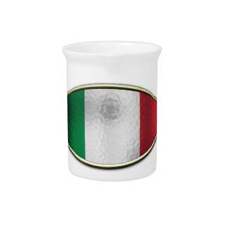 Ichthus - Italian Flag Beverage Pitcher