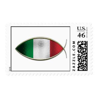 Ichthus - Italian Flag Postage