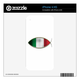 Ichthus - Italian Flag Decal For iPhone 4