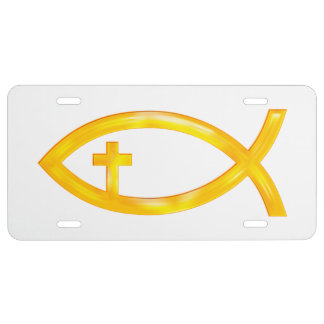 Ichthus Licence Plate License Plate