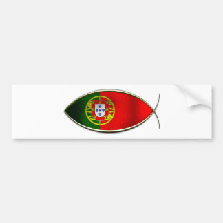 Ichthus - Portugese Flag Car Bumper Sticker