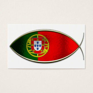Ichthus - Portugese Flag Business Card
