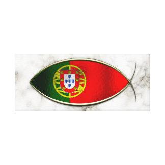 Ichthus - Portugese Flag Canvas Print