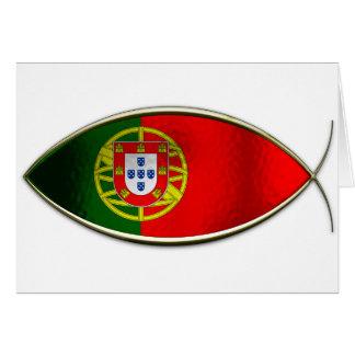 Ichthus - Portugese Flag Card