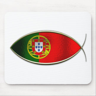 Ichthus - Portugese Flag Mouse Pad